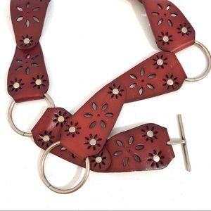 Accessories - Floral Leather Belt